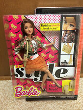Barbie Teresa Doll Style Glam Luxe Brunette Flat To Heel Root Eyelash Articulate