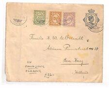 BF291 1921 DUTCH EAST INDIES Fandjong Padang NETHERLANDS The Hague Uprated Stati