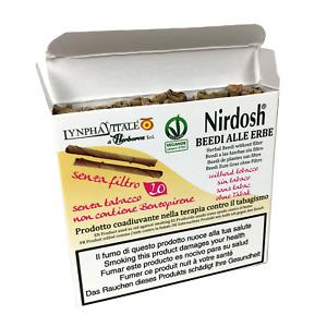 Nirdosh Beedies alle Erbe senza Filtro pacchetto da 20 - Per smettere di fumare