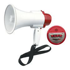 NEW PORTABLE SPEAKER MEGAPHONE STRAP PISTOL GRIP LOUD SPEAKER SIREN RECORD PLAY