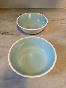 """CHATEAU BUFFET 6"""" Bowl (2) Turquoise Match Boutonniere Taylor Smith Cereal bowls"""