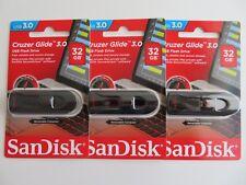 New-SanDisk-Cruzer-Glide-32GB-USB-3-0-SDCZ600-032G-G35-3Packs