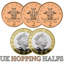More details for £2-2p hopping half trick hopping halves easy coin magic rare version hand made
