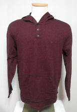 Hurley Men's Large Hoodie Burgundy & Black Striped Long Sleeve Hooded Shirt