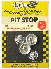 1965 K&B Aurora 1:24 Slot Car Pit Stop Parts POSI-LOK WIRE WHEEL SET 235 Narr FR