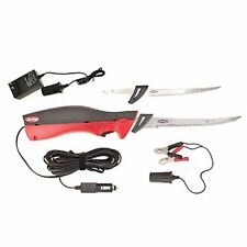 Deluxe Electric Fillet Knife w/Case, Adapters 120V/12V, Cut Fish,Turkey #BCDEFK