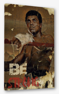 Muhammad Ali Boxer Inspirational Message l Be Strong Canvas wall art |
