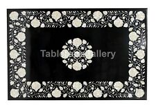 3'x2' Marble Dining Table Top Mother of Pearl Floral Inlay Living Decor Art B179