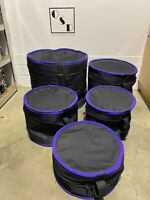 Pulse Fur Lined Soft Drum Cases X5 Rock Sizes / Bags / Accessory / Hardware