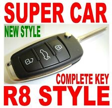 R8 STYLE FLIP KEY REMOTE FOR 2006-10 TOYOTA AURION CHIP KEYLESS ENTRY FOB OVTD2