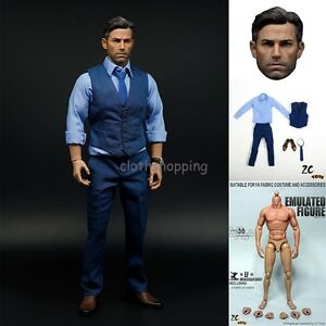 ZCtoys 1/6 Batman Ben Affleck Clothing Suit Set Muscular Figure Body Head Sculpt