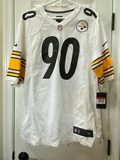 NWT Nike Men's Pittsburgh Steelers T.J. Watt Large White Game Jersey SEE PICS