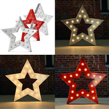15'' Metal LED Marquee Letter Symbol Light Star Type Carnival Circus Party Decor