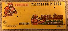 Daniel Boone Wilderness Scout Flintlock Pistol Display Card