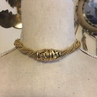 Vintage Napier twisted ball chain choker necklace