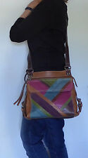 FOSSIL Castille Multicolor Leather Crossbody Bag Purse Organizer