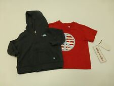 Fourth of July 3/6M Red T Shirt New & Carters Size 3M Thin Hoodie Good Condtion