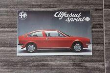 (164A) Dépliant ALFA ROMEO Alfasud Sprint