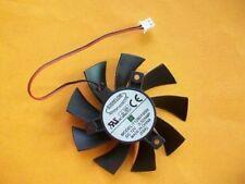 GIGABYTE GTS450 Video Card Fan T128015SH 12V 0.32A 2Pin 75*40mm #M3054 QL