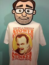 Terry-Thomas - British Comedian T-Shirt (Positive Shower) - White Shirt