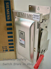 Siemens Stainless HF321S 30amp  240vac 3ph Fused Safety  Switch 14 Available New