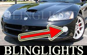 WHITE ANGEL EYE HALO FOG LIGHTS driving lamps for 2003-2006 DODGE VIPER srt-10