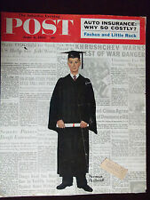 1959 Saturday Evening Post Graduate Norman Rockwell Cover Only
