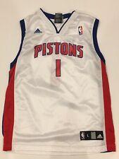 Detroit Pistons Basketball Jersey White Chauncey Billups Youth Large