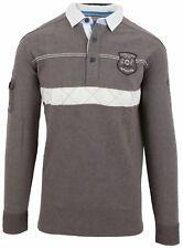 VAN SANTEN & VAN SANTEN Sweatshirt Shirt Polo Größe L 100% Baumwolle Cotton Grau
