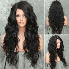 Pre Plucked Glueless Lace Front Wigs Synthetic Body Wave Full Wigs Baby Hair