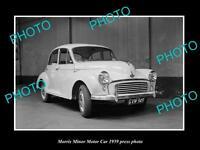 OLD LARGE HISTORIC PHOTO OF 1959 MORRIS MINOR CAR PRESS PHOTO