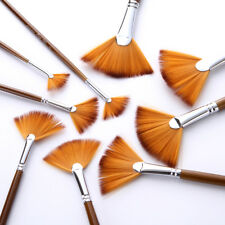 EG_ CN_ 9Pcs Fan Brush Set Oil Watercolor Painting Copper Tube Nylon Hair Brush