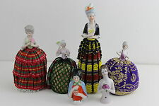 Victorian 6 German Half dolls Pin Cushion With All Different Pattern Numbers