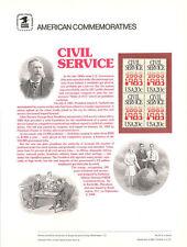 #197 20c Civil Service #2053 USPS Commemorative Stamp Panel