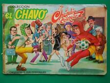 1970's EL CHAVO Chespirito EL CHAPULIN COLORADO COMPLETE STICKERS ALBUM RARE!!