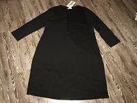 NOOK Lagenlook Shirt Kleid in schwarz G4 Neu