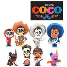 """3"""" Movie Pixar Coco Action Figure MIGUEL RIVERA Charater Toy Figures Gift 8pcs"""
