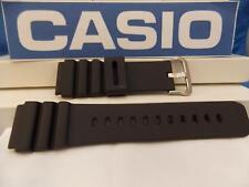 Casio Watch Band WVQ-142 Black Rubber 22mm Diver Style Mans. WaveCeptor Original