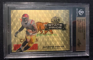 JuJu Smith-Schuster 2017 Leaf Metal Draft RC Super Prismatic Gold Vinyl  1/1