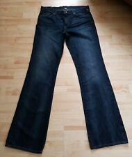 Banana Republic Women Jeans Size 32L Dark Blue BootCut Stretch Premium Denim