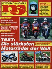 mo 11/85 1985 BMW K75C Yamaha XJ900 Kawasaki 750 Turbo Yamaha Vmax VF1000R Rudge