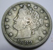 1889 Liberty nickel grades extra fine (#920a)