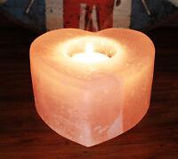 Himalayan Salt Candle holder Heart Shaped Size Med (salt-31)