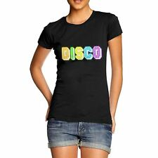Twisted Envy Women's Rainbow Disco Lights T-Shirt