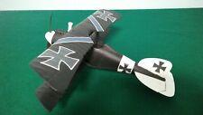 Vintage Testors Fly Em Black Albatross Biplane RTF Model Airplane w/.049 Engine