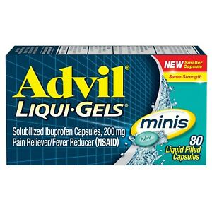 New Advil Liqui-Gels minis (80 Count) Pain Reliever / Fever Reducer 200 Mg