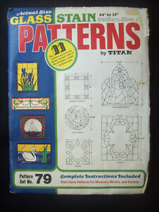 Vintage Stained Glass Patterns Titan Corporation Glass Stain Pattern Set #79