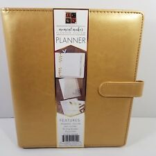 American Crafts Moment Maker Planner System 6 Ring Binder Gold 4 pockets