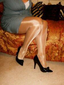 VINTAGE Retro Glamour Nylons Stylish Tights Pantyhose High Gloss high Shine