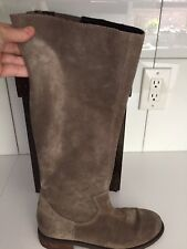 Dolce Vita DV Taupe Suede Riding Boots W Back Zip EUC 6.5